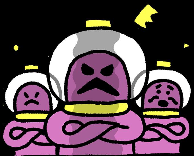 三体の宇宙人のイラスト